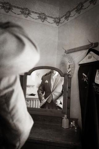 Photograph of Groom on Wedding Day