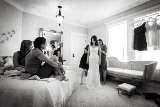 Getting the Bride Ready on Wedding Day